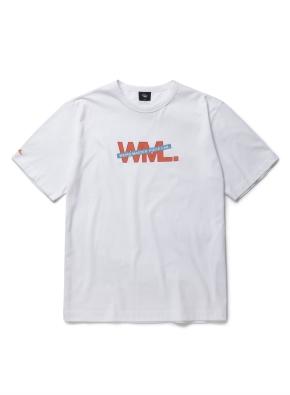 [1박2일착용] 라인 레이어드 로고 그래픽 티셔츠