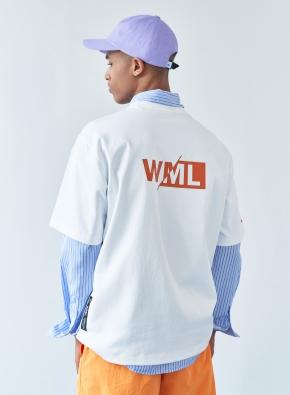 [WML] 시그니쳐 니들 워크 그래픽 오버 티셔츠