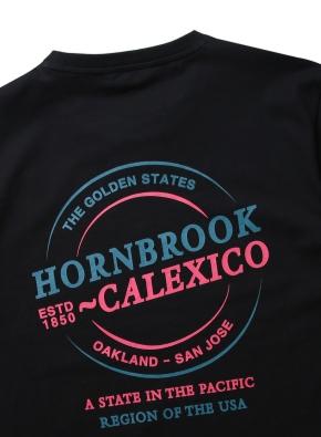 혼브룩 라운드 그래픽 티셔츠 (BK)