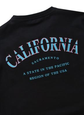 캘리포니아 레터링 그래픽 티셔츠(BK)