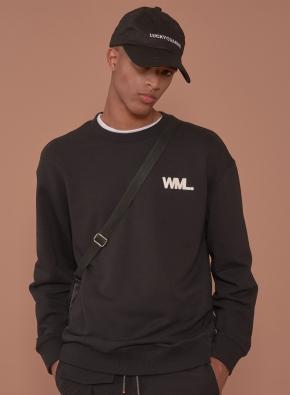 [WML] 레터링 그래픽 스웨트셔츠