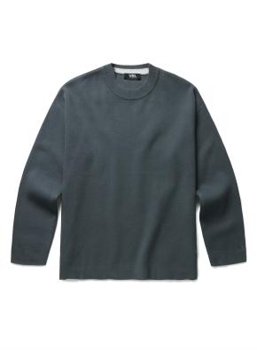 [WML] 소매 배색 오버핏 스웨터
