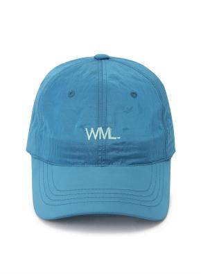 [WML] 메탈릭 로고 포인트 볼캡 (BL)