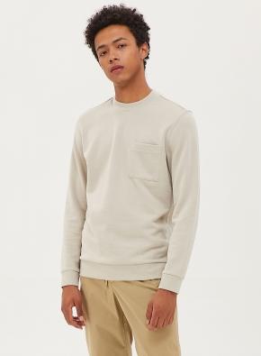 포켓 라운드 스웻 티셔츠 (LGR)