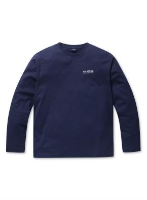 남성 면 긴팔 티셔츠(그래픽&스트라이프) _ (NV)
