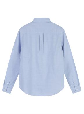 여성 코튼 옥스퍼드 베이직핏 긴팔 셔츠 _ (BL)