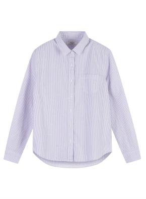 여성 코튼 옥스퍼드 베이직핏 긴팔 셔츠 _ (LV)