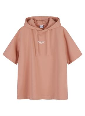 여성 쿨테리 후드 반팔 티셔츠