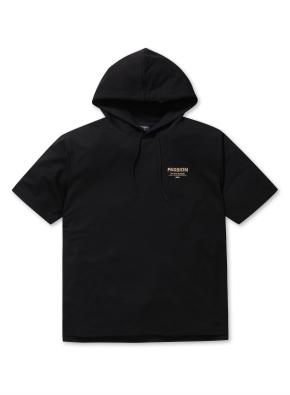 남여공용 쿨 테리 반팔 후드 티셔츠 _ (BK)