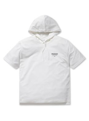 쿨테리 반팔 후드 티셔츠