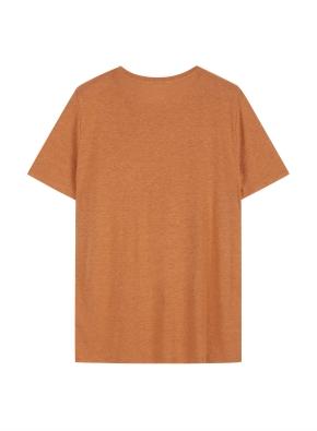 여성 린넨 베이직 크루넥 반팔 티셔츠