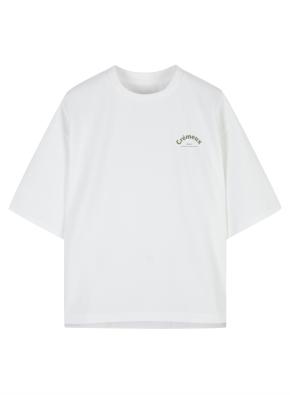 여성 폰테 그래픽 5부 티셔츠