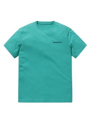 코튼 레터링 그래픽 반팔 티셔츠