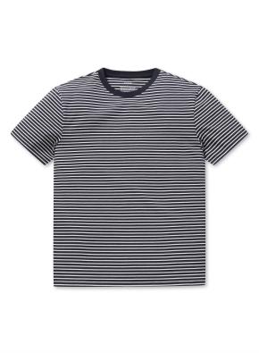 라운드넥 스트라이프 반팔 티셔츠