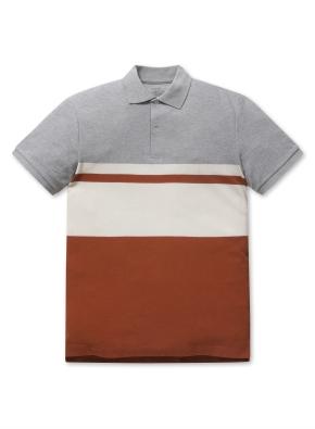 코튼 스트라이프 카라 티셔츠