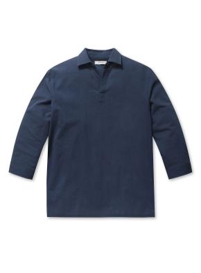 이지쿨 반오픈 풀오버 7부 셔츠