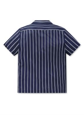 폴리 스판 오픈카라 반팔 셔츠