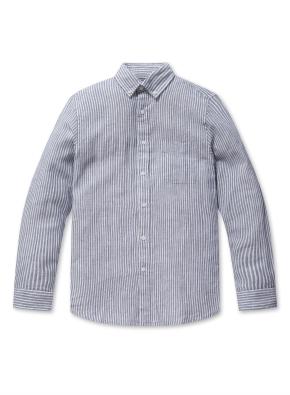 린넨 코튼 버튼다운 긴팔 셔츠