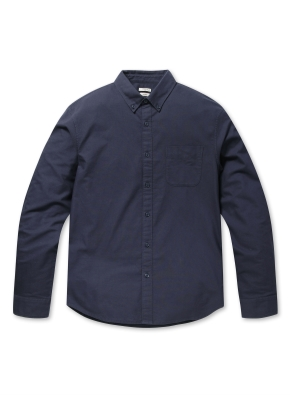 코튼 옥스포드 버튼다운 긴팔 셔츠