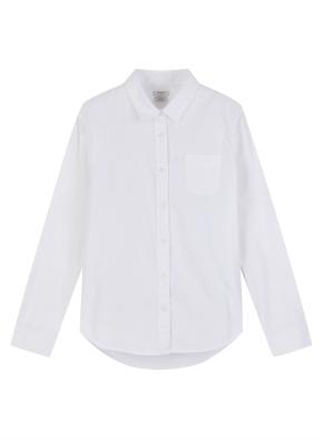 여성 코튼 옥스포드 긴팔 셔츠