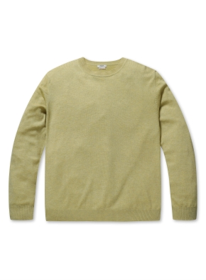 캐시 블랜디드 크루넥 스웨터