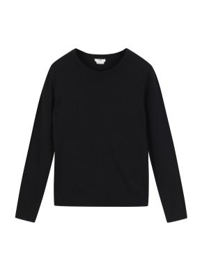 여성 캐시 블랜디드 크루넥 스웨터