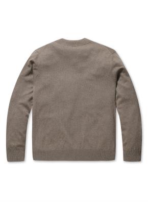 캐시 블랜디드 반터틀넥 스웨터