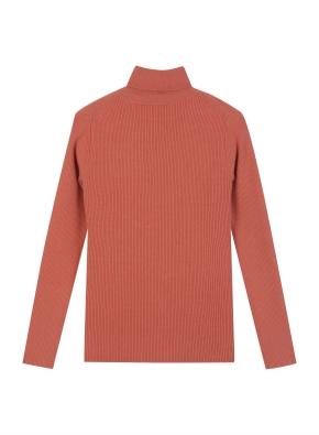 여성 레이온 혼방 립 터틀넥 스웨터