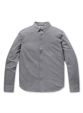 코튼 기모 저지 버튼다운 셔츠