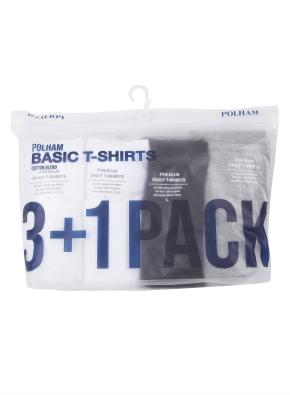 남여공용 3+1팩 반팔 티셔츠 _ (WBG)