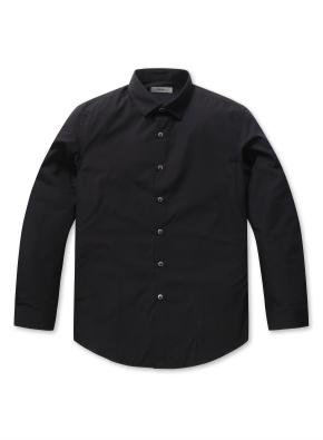 남성 코튼혼방 히든 버튼다운 드레스 셔츠 _ (BK)