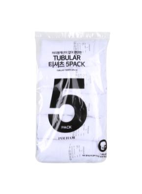 5팩 튜블러 반팔 티셔츠