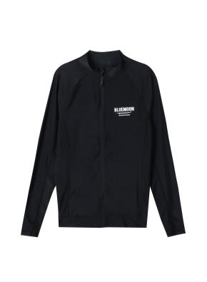 남성 비치웨어 집업 티셔츠 _ (BK)