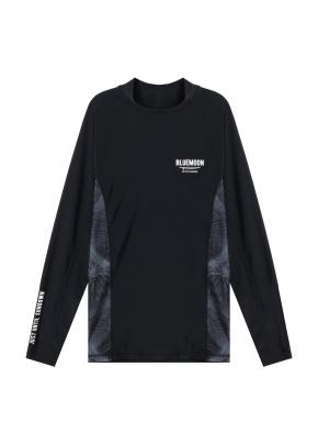 남성 비치웨어 풀오버 티셔츠 _ (BK)