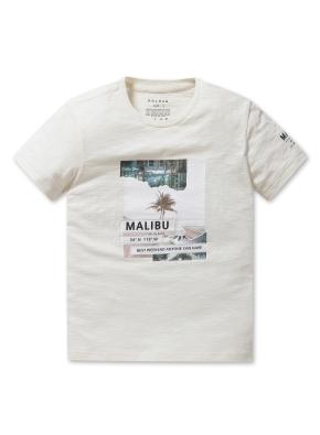 남여공용 말리부 그래픽 반팔 티셔츠 _ (CR)
