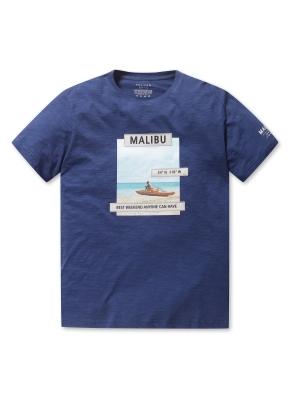 남여공용 말리부 그래픽 반팔 티셔츠 _ (DBL)