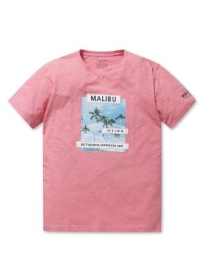 남여공용 말리부 그래픽 반팔 티셔츠 _ (DPK)