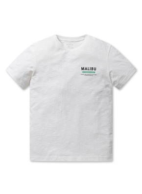 남여공용 말리부 그래픽 반팔 티셔츠 _ (WT)