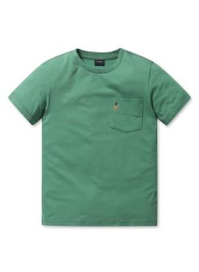 남여공용 말리부 포켓 반팔 티셔츠 _ (GN)