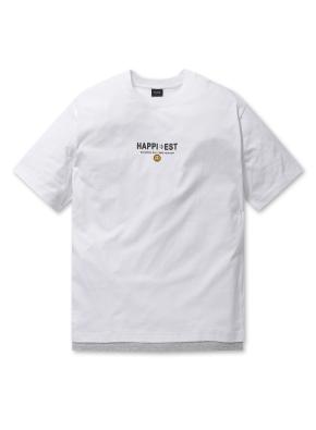 남여공용 스마일 그래픽 반팔 티셔츠 _ (WT)