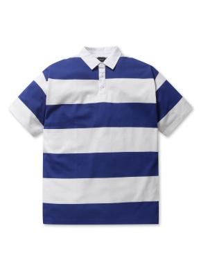 남여공용 스트라이프 피케 티셔츠 _ (BL)