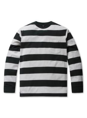 공용 스트라이프 싱글 티셔츠  _ (GN)