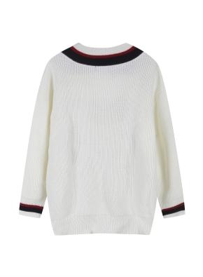 여성 브이넥 오버핏 스웨터 _ (OWT)
