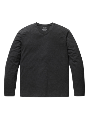 브이넥 베이직 긴팔 티셔츠