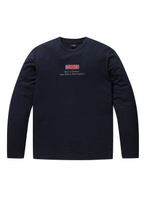 남여공용 베이직 로고 티셔츠 _ (NV)