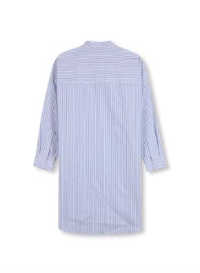여성 포플린 롱기장 셔츠