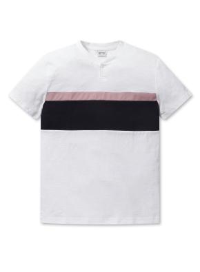 남성 헨리넥 스마트 슬럽 티셔츠 _ (WT)