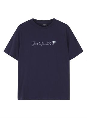 여성 레터링 티셔츠1 _ (NV)