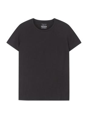 여성 슬럽 베이직 티셔츠 _ (BK)