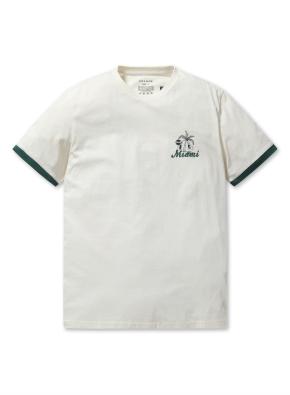 공용 MIAMI 그래픽 티셔츠 1 _ (CR)